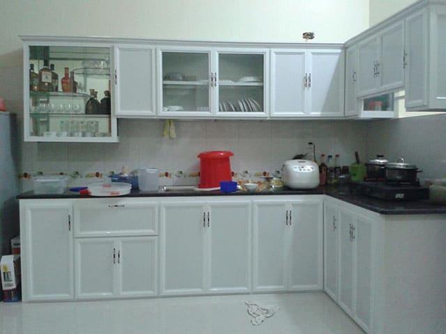 Làm tủ bếp nhôm kính tại quận Tây Hồ Giá Rẻ 0979227098